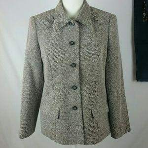 Sag Harbor Petite Tweed Style Blazer Coat 10P